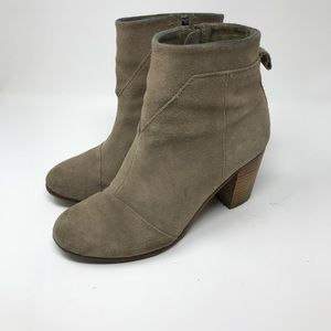 TOMS | Lunata Taupe Suede Booties